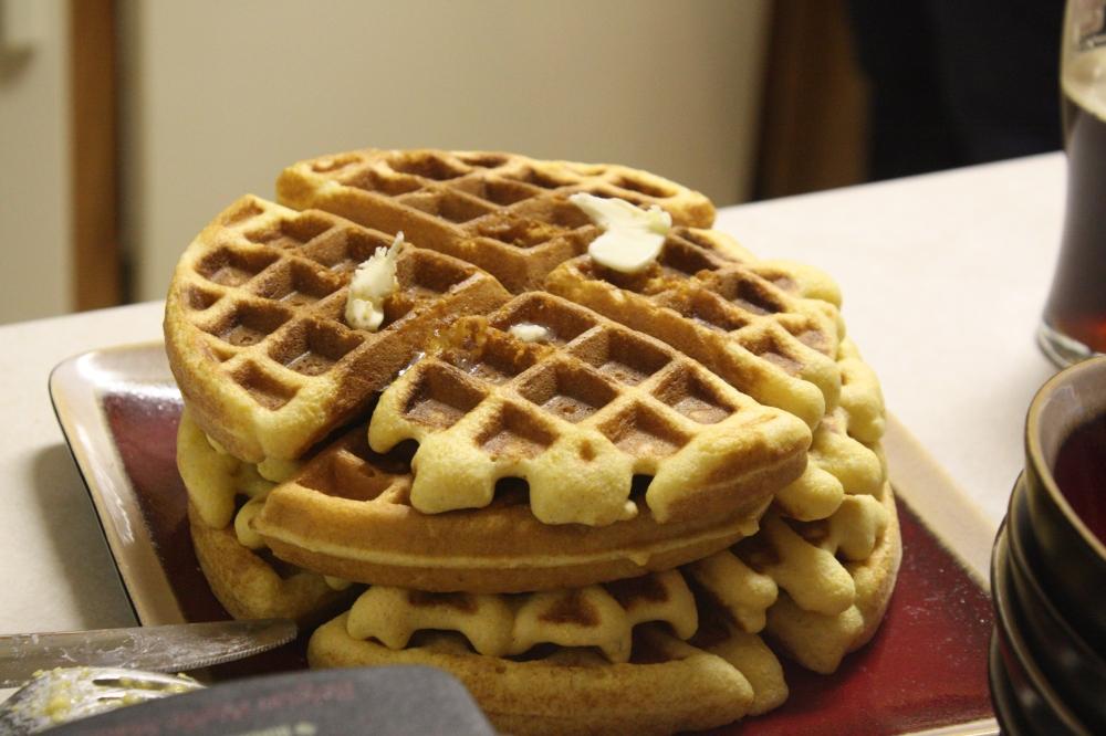 Cornbread Waffles (yummy!)